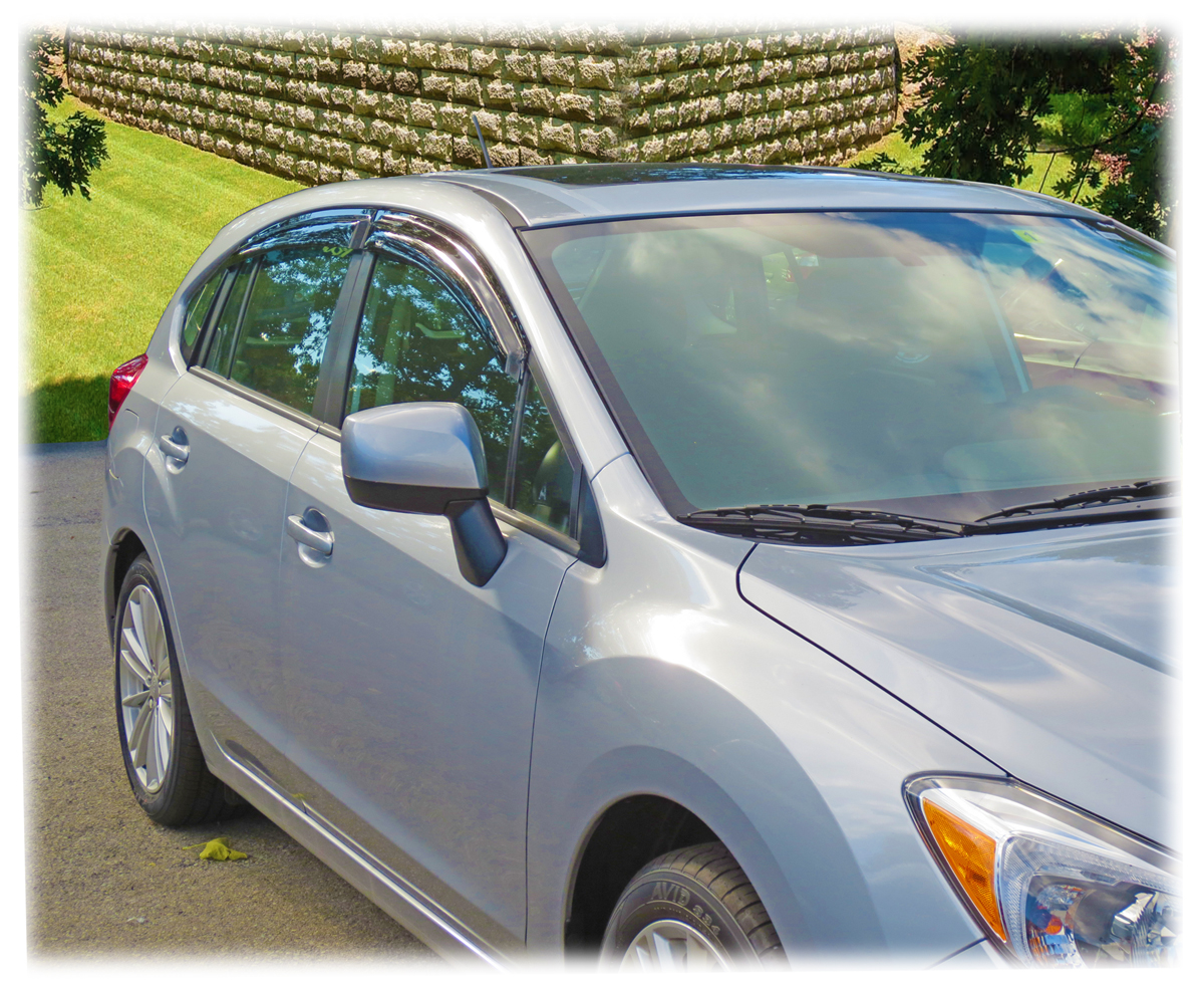 Avs Vent Shades >> Rain Guards for New Impreza Hatchback! Tape-On Outside-Mount Perfect Fit® Window Visors (Shades ...